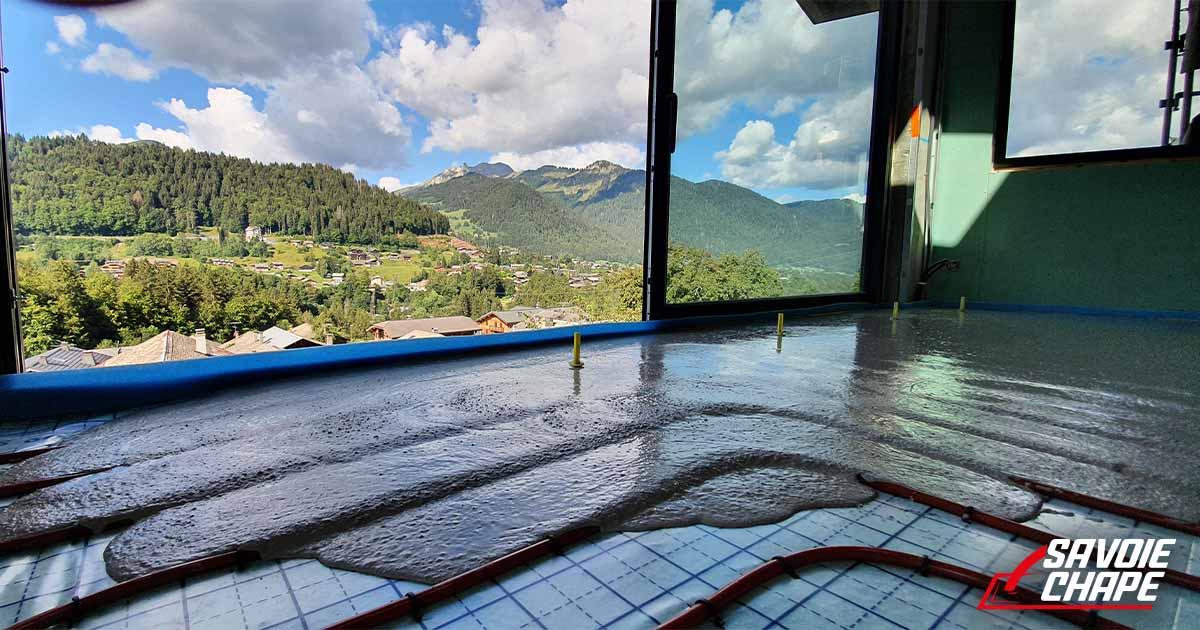 chape liquide anhydrite en Haute Savoie
