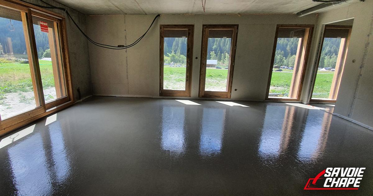 Chape ciment dans un chalet en Savoie