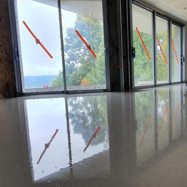 Chape liquide anhydrite au sein d'une villa de 140 m2 à Mouxy - 1
