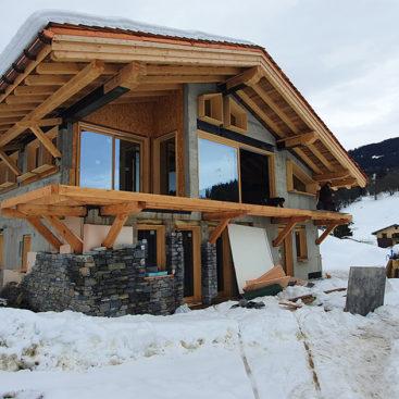 Chalet à Megève en Haute-Savoie (74) - Chape anhydrite sans ponçage