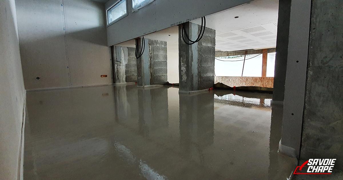 Chape liquide anhydrite au sein d'une villa de 140 m2 à Mouxy - 2