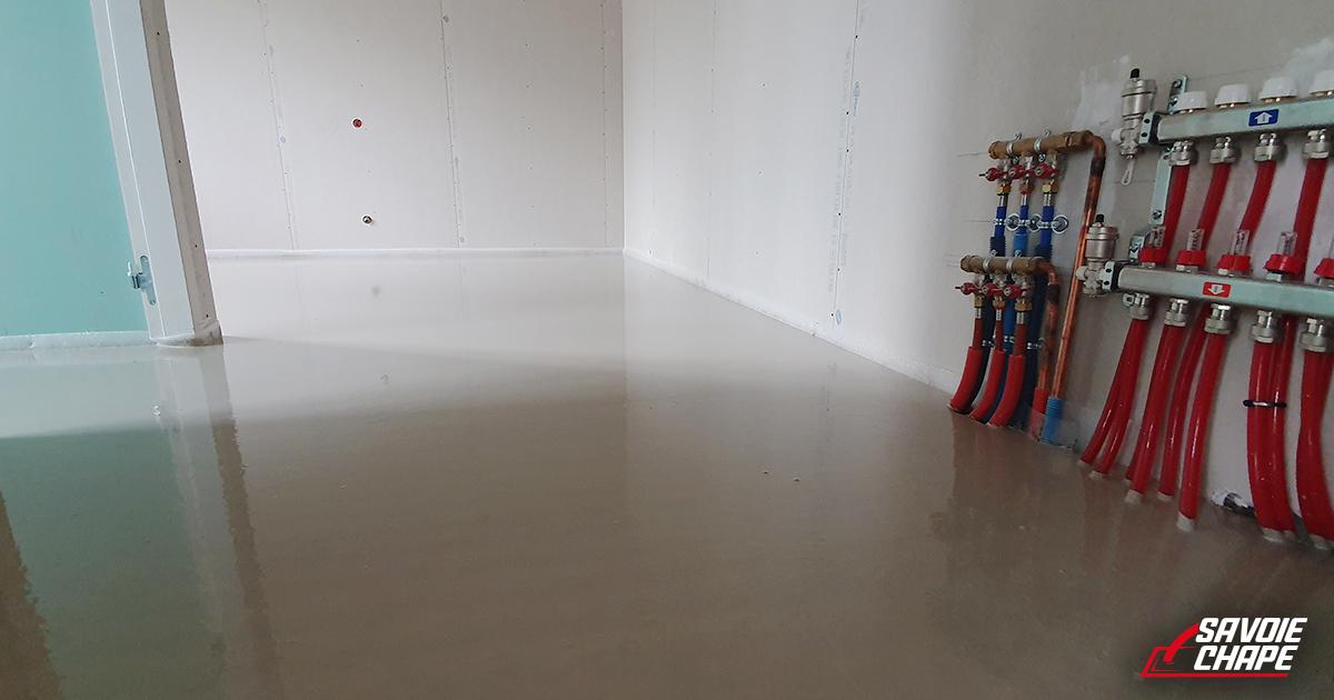 Chape liquide anhydrite au sein d'une villa de 140 m2 à Mouxy - 3